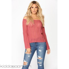 Essence Cold Shoulder Sweater - Marsala - Womens Sweaters Pl3aVaRf