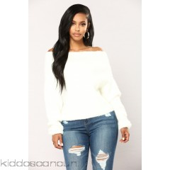 Esther Off The Shoulder Sweater - Ivory - Womens Sweaters aAiNewkL