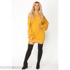 Fuzzy Luv Sweater - Mustard - Womens Sweaters SFWwD9cN