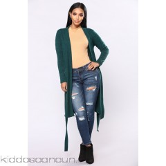 Keeping My Cool Duster - Hunter - Womens Sweaters VeMjSxY1