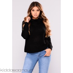 Meet Me There Top - Black - Womens Sweaters EF3RKUy5