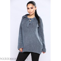 Most Addictive Hooded Sweater - Navy - Womens Sweaters EnhLUIL1
