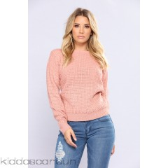 Solemate Caged Back Sweater - Mauve - Womens Sweaters 50makoZb