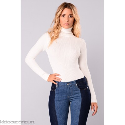 Tara Turtle Neck Sweater - Ivory - Womens Sweaters 3Lu4lbAK