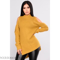 Whenever, Wherever Sweater - Mustard - Womens Sweaters 8RjmWTXv