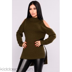 Whenever, Wherever Sweater - Olive - Womens Sweaters BMxWEy6K