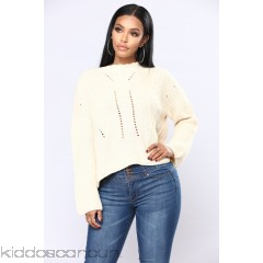 Yamila Lace Up Sweater - Ivory - Womens Sweaters NRhqeET8