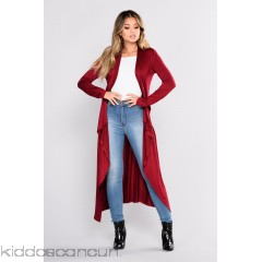 You Amaze Me Duster - Burgundy - Womens Sweaters igfBeqcG