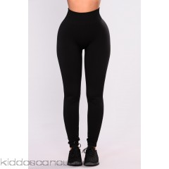 Cassie Fleece Leggings - Black - Womens Leggings EZbegw01