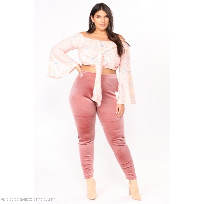Look But Don't Touch Leggings - Mauve - Womens Leggings JUu2hQ94