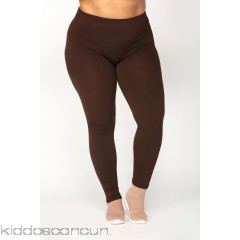 New Essential Fleece Leggings - Brown - Womens Leggings 9F3WOZ95