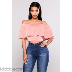 Alyson Off Shoulder Top - Mauve - Womens Fashion Tops fUUkEVfu