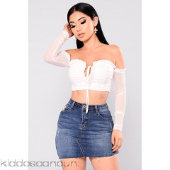 Anita Long Sleeve Mesh Top - Off White - Womens Fashion Tops 0He06kWA