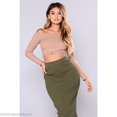 Katy Off The Shoulder Top - Tan - Womens Fashion Tops lY2OoFt1