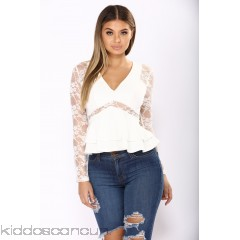 Lace And Grace Top - Ivory - Womens Fashion Tops lmscvDxR