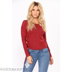 Leave With You Lace Up Top - Burgundy - Womens Fashion Tops QOI0qKQA