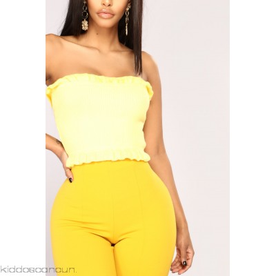 Sweet Emotion Top - Yellow - Womens Fashion Tops kpEcY55s
