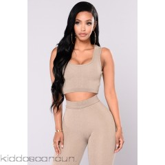 Sonja Crop Top - Khaki - Womens Tanks 1emzvygq