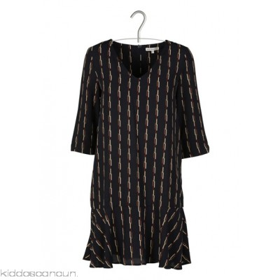 BEST MOUNTAIN - Women - Printed round-neck short dress with 3/4 sleeves b0LWxqe3
