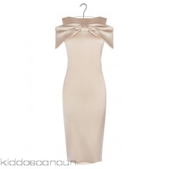 KAREN MILLEN - Women - Satin pencil dress with bow D7ATAeuP