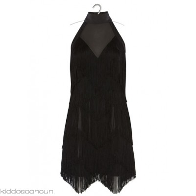 KAREN MILLEN - Women - Short dress with fringing paY4zTA1
