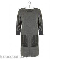 LIU JO - Women - Dual-material sweater dress HSEFCGBZ