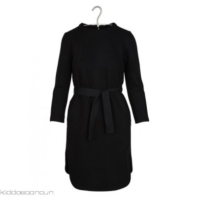 LOREAK - Women - Short belted wool and cotton dress 38yR012D
