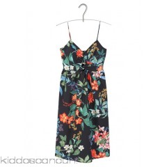 MANGO - Women - Printed midi dress with bow ktVLnm1a
