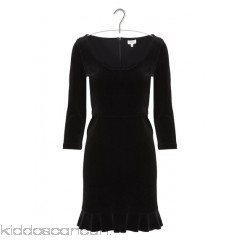 PABLO - Women - Long-sleeved velvet dress with ruffled hem CyqC42A5