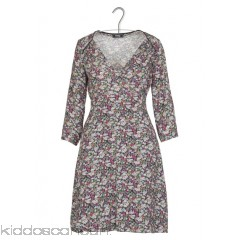 SINEQUANONE - Women - Short floral-print wrap-over dress FLMlSNMq