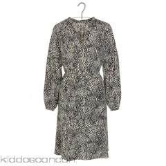 SWILDENS - Women - Viscose crepe dress with feather print SZOR405R