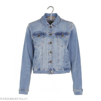 BEST MOUNTAIN - Women - Short fitted denim jacket tfyNfAbw