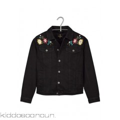 BIZZBEE - Women - Floral-embroidered cotton denim jacket Uwu9GhlX