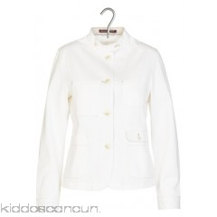 COMPTOIR DES COTONNIERS - Women - Cotton high-neck fitted jacket 0C69YCL9