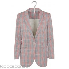 IMPERIAL - Women - Dual-fabric sweatshirt fabric and Prince of Wales check suit jacket kEIkOkMP