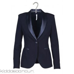 IMPERIAL - Women - Tuxedo jacket with satin collar WBsQC7gs