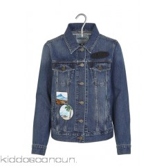 KENZO - Designers - Denim jacket with embroidered patches ytVaeRBK