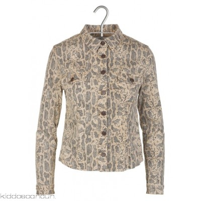 LE TEMPS DES CERISES - Women - Fitted reptile print denim jacket eQ5dM30Z