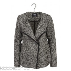 LE TEMPS DES CERISES - Women - Tweed jacket with studded shawl collar kdin583i