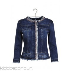 LIU JO - Women - Denim jacket with diamanté embroidery HS9vT220