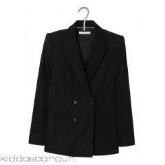 MANGO - Women - Double-breasted jacket with tailored collar 8wn8Rewv