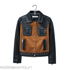 MANGO - Women - Faux-leather studded jacket iPJAmiaf