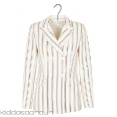 SANDRO - Women - Fitted striped linen and cotton jacket OG3Pf3eW