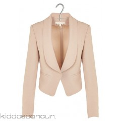 VANESSA BRUNO - Designers - Short crepe jacket with shawl collar B6GL3h18