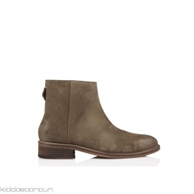 ANTHOLOGY PARIS - Women - Flat leather ankle boots with zip 9aQNpxng