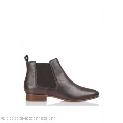BENSIMON - Women - Metallic leather Chelsea boots JbhwHvsG