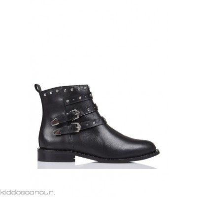 BERENICE - Women - Studded calfskin leather ankle boots Gp4dyiII