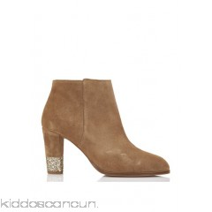 BOBBIES - Women - Lapos;Eprise zipped suede ankle boots with glitter heel dDBR1qZI