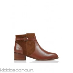 BOBBIES - Women - Lapos;Indocile zipped leather and suede ankle boots with heel a1OVVRXm