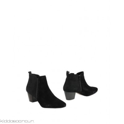 DUNE London Ankle boot - sueded effect no appliqués solid colour zip closure round toeline square heel - Womens Ankle Boots 11334859GD